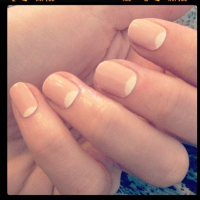 "#Repost from @shopncla of ""Jenna's Nude Moon"" #nailwraps avail $16 www.shopncla.com #nclaxnailinghollywood"