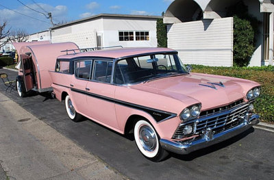 vintage-trailers:  1958 Nash Rambler Cross Country with matching teardrop trailer [source]