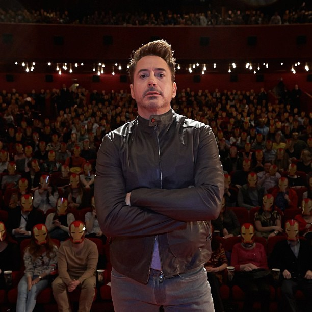 9gag:  Robert Downey Jr. and his b*tches