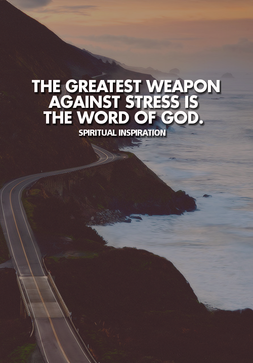 "drowninginhismercy:  spiritualinspiration:  7 Great Bible Verses for Stress  In my distress I called upon the LORD, Yes, I cried to my God; And from His temple He heard my voice, And my cry for help came into His ears. (2 Samuel 22:7)  And He said, ""My presence shall go with you, and I will give you rest. (Exodus 33:14)  Cast your burden upon the LORD, and He will sustain you; He will never allow the righteous to be shaken. (Psalm 55:22)  Be anxious for nothing, but in everything by prayer and supplication with thanksgiving let your requests be made known to God. And the peace of God, which surpasses all comprehension, shall guard your hearts and your minds in Christ Jesus. (Philippians 4:6-7)  When I am afraid, I will put my trust in Thee. In God, whose word I praise, In God I have put my trust; I shall not be afraid. What can [mere] man do to me? (Psalm 56:3-4)  ""Be strong and courageous. Do not be afraid or terrified because of them, for the LORD your God goes with you; he will never leave you nor forsake you."" (Deuteronomy 31:6)  Trust in the LORD with all your heart, And do not lean on your own understanding. In all your ways acknowledge Him, And He will make your paths straight. (Proverbs 3:5-6)  😏"