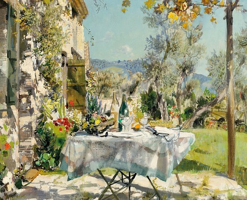 Gabriel Deschamps Terrace Breakfast 20th century