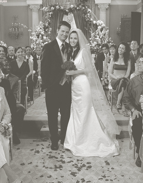 This day 12 years ago today (May 15th, 2001) was the wedding of Monica and Chandler. Many hijinks ensued on that day including Chandler running off and Joey working on his film. Through it all they got married and began the beautiful life they would live together. Their love was true and beautiful. Their love is legendary. Here is to 12 years of marriage, Mondler and many more to come.