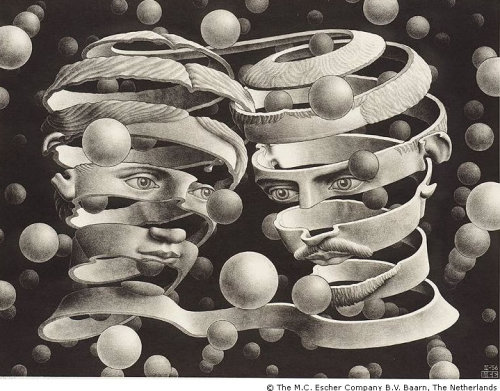 M.C. Escher. Bond of Union. 1956  Thank you… :)