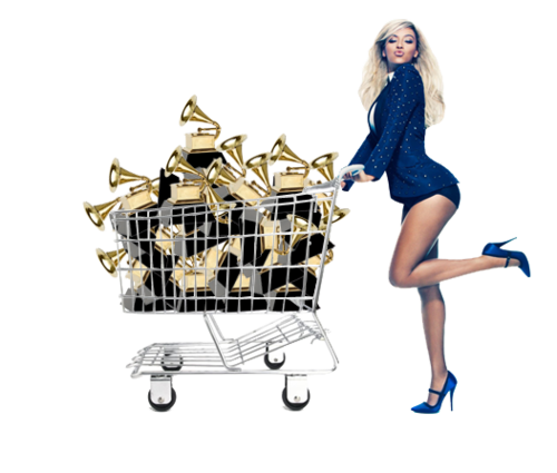 wallowinginmyownselfcreys:  look, a transparent picture of beyonce and her grammys so she can walk her grammys on your blog