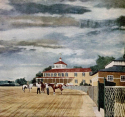 Pimlico, artist unknown.  In honor of Preakness Day!
