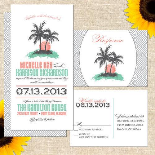 Printable invit tumblr beach wedding invitation printable stopboris Images