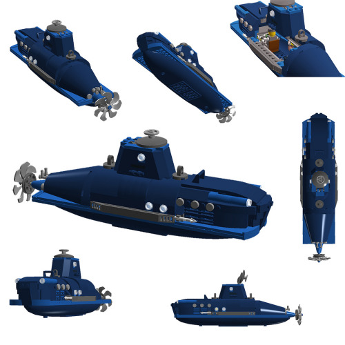 legozz:  Blue Submarine (by sebeus)