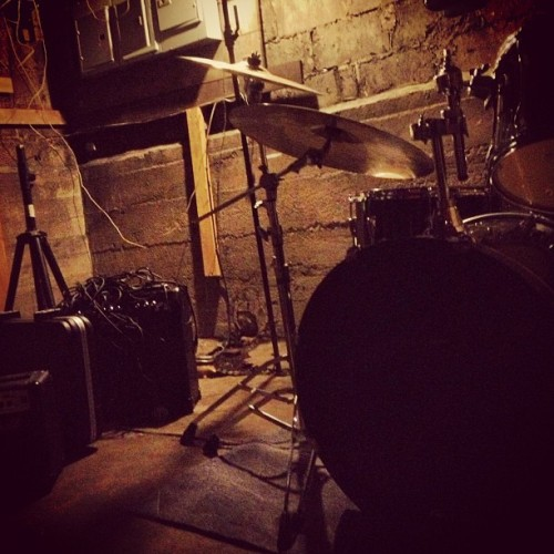 sazemusic:  Rockin in the gutta. #music #drums #perform #art #photography #rock #show #MakeItOutAlive  #basement shows…