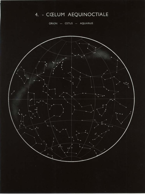 Constellations Map: Orion, Cetus and Aquarius,Equinox, Sky Astronomy Print 1960s, at CarambasVintage http://etsy.me/YqptV4