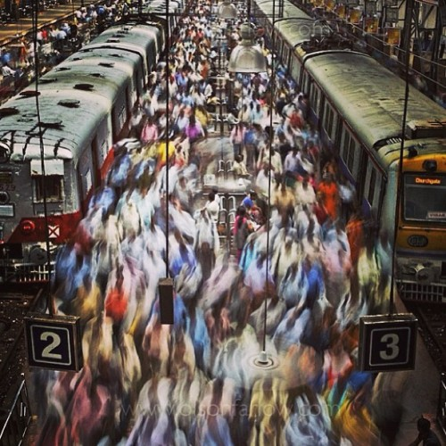 """Train Station""- Mumbai, India. Next time you complain about personal space…think twice. #globalperspective #repost @natgeo xo"