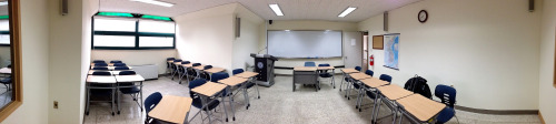 hugmybolster:  Day 53 in Korea - Panorama shot of classroom 619