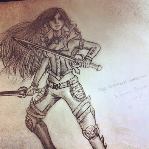 So I drew High Command Katarina from League last night. I'm pretty happy with the results. :D