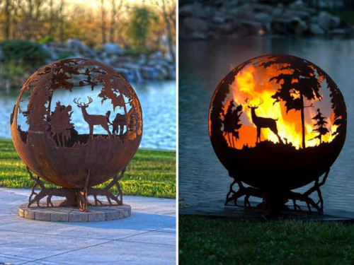(via Unique Fire Pit by Melissa Crisp | Well Done Stuff !)