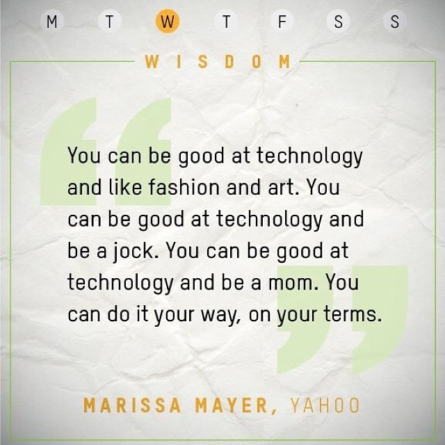 #WednesdayWisdom from Marissa Mayer: you can do it your way, on your terms! #inspiration #leadership #nasdaq #inspiring #goodquote #inspirational #quoteoftheday