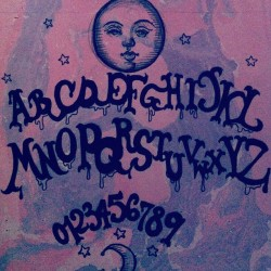 moi-amourette:  #illustration #ouija #ouijaboard #occult #marbling #moon