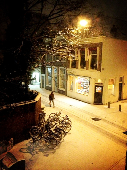 First snow of this year in my hometown Haarlem