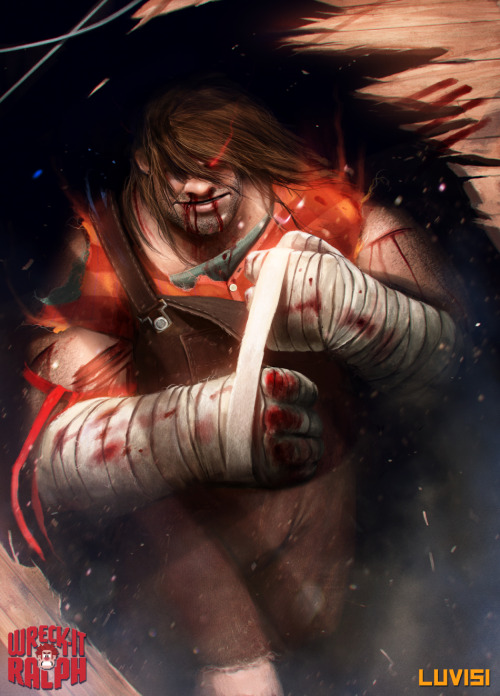 manticore-monster:  geeksngamers:  Wreck It Ralph: Street Fighter Edition - by Dan LuVisi Check out the Artist's website | Twitter  holy goddamn