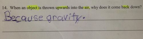 Because gravity.