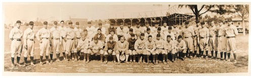 1929 Boston Braves Team Panoramic Spring Training - St. Petersburg, Florida