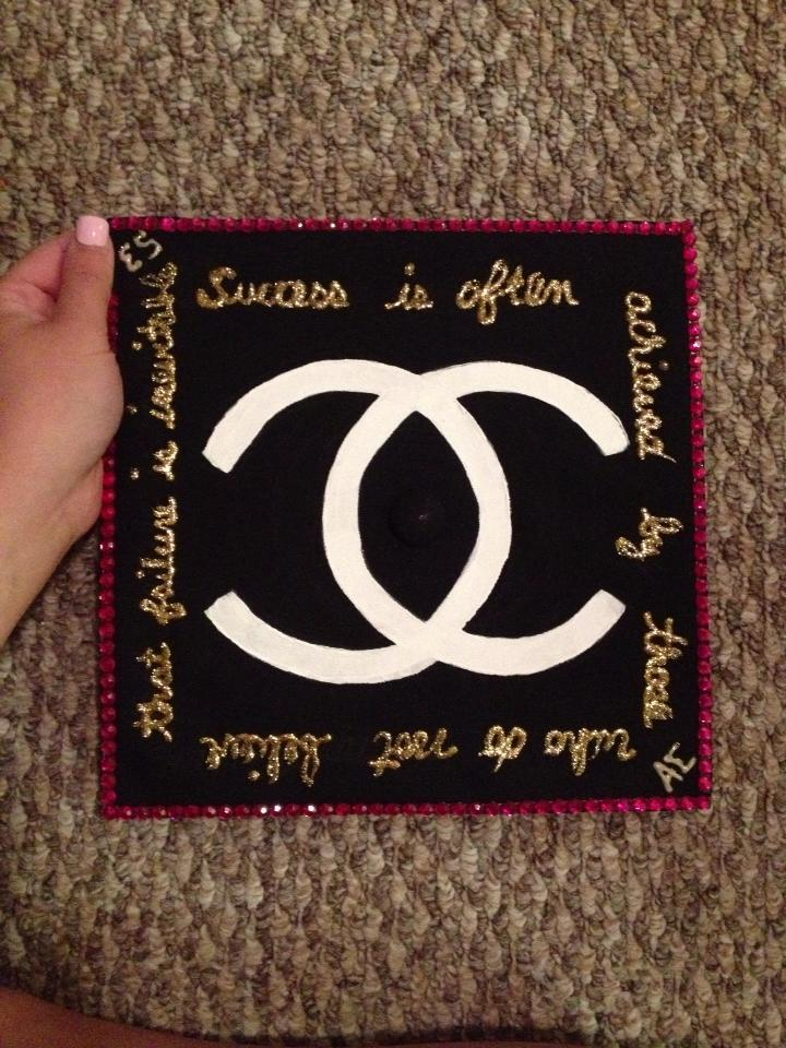 One of my favorite Caps from graduation was my friend Jordan's, she is also a fashion major and her cap was inspired by Chanel.