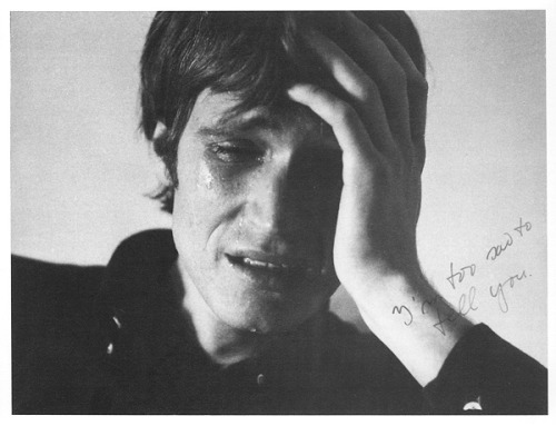 weepling:  Bas Jan Ader, I'm too sad to tell you