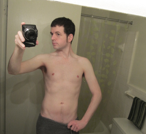 Winter weight.Shirtless Saturday (both start with 'S')
