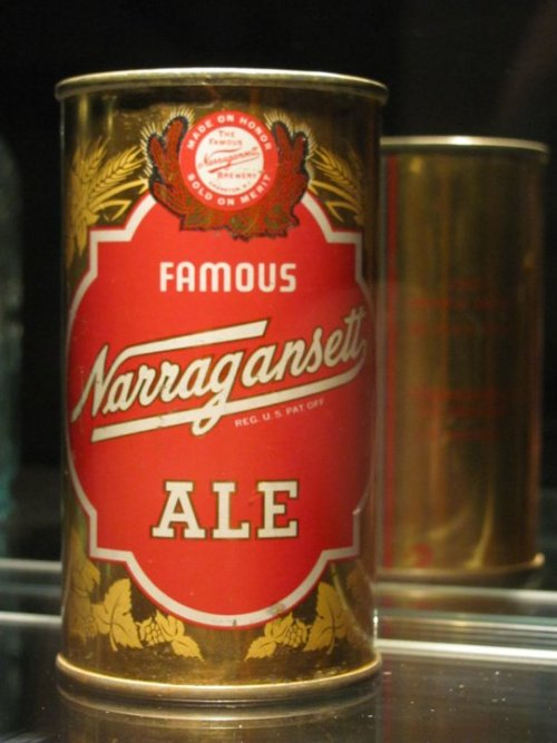 Narragansett Ale can from the 1940's.