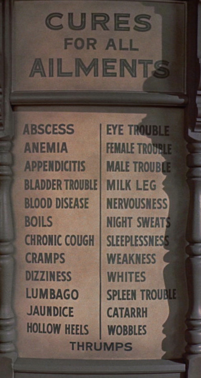 """Cures for All Ailments"" from Bell, Book and Candle (dir. Richard Quine, 1958) What's ""milk leg""?"
