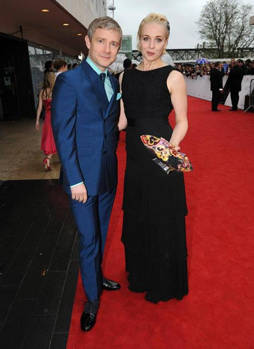 Martin Freeman and Amanda Abbington attending the BAFTA TV Awards 2013 this evening in London