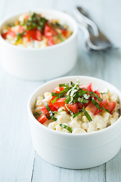 caprese macaroni and cheese from Cooking Classy
