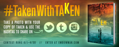 erinbowman:  The #TakenWithTAKEN contest runs now through April 30th! For full contest details, entry form, and prize info, visit embowman.com.