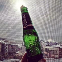 It's #Friday and that deserves a #Carlsberg. Especially from a balcony @coppermtn.  (at Copper Mountain Resort)