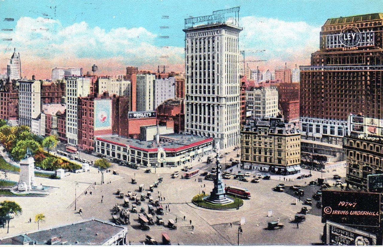 Columbus Circle in 1920, New York City