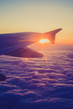 givncvrlos:   Flying at Sunset