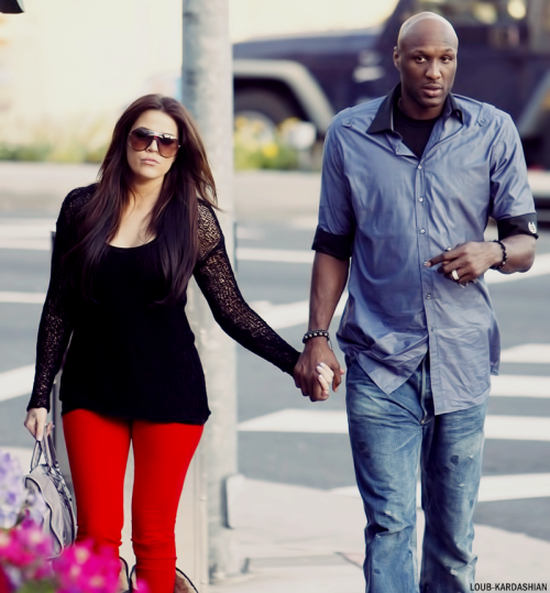 Khloe And Lamar Go To Cafe Med In West Hollywood