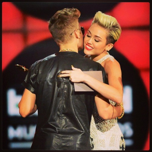 Mi foto favorita :D #happy #Miley #and #justin