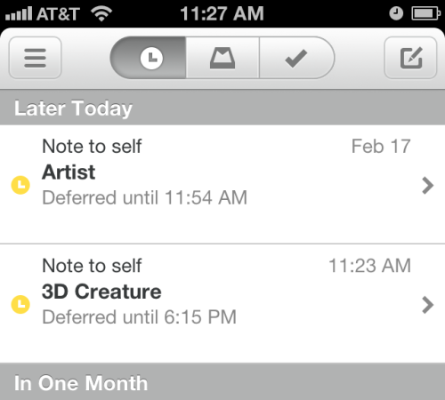 "Mailbox - Sets the 'sender' field to ""Note To Self"" if you send yourself an e-mail."