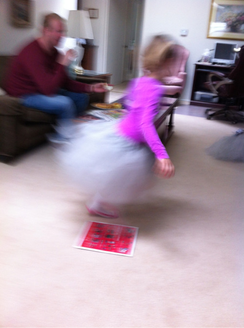 The pure joy of a tutu and a 3 1/2 year old!