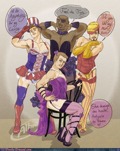 amaziiinga:  Cross-Dressing Super Heroes
