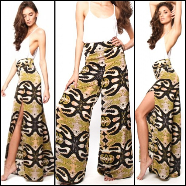 NEW on www.ishine365.com! These One Teaspoon Wide Leg Taipan Pants are AMAZINGGGGG!   #ishine365 #shineon #oneteaspoon #wideleg #pants #fashion #inspiration #loveit #hot #animalprint #style #trend #shopnow (at SHOP www.ishine365.com)