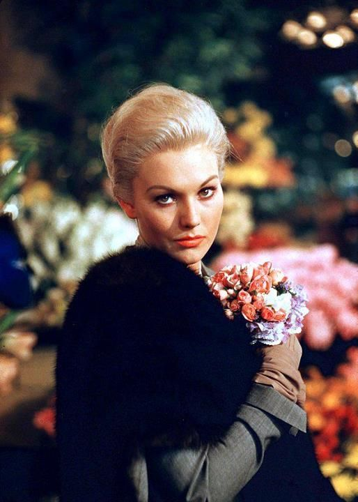 """seethekaleidoscopemirror: """" Kim Novak in Alfred Hitchcock's """"Vertigo."""" 1958. A retired San Francisco detective suffering from acrophobia investigates the strange activities of an old friend's wife, all the while becoming dangerously obsessed with..."""