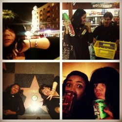 Hollywood nights w @ohhiiyvonne #marketrun #fourloko #backstreetboys (at Hollywood Walk Of Fame)