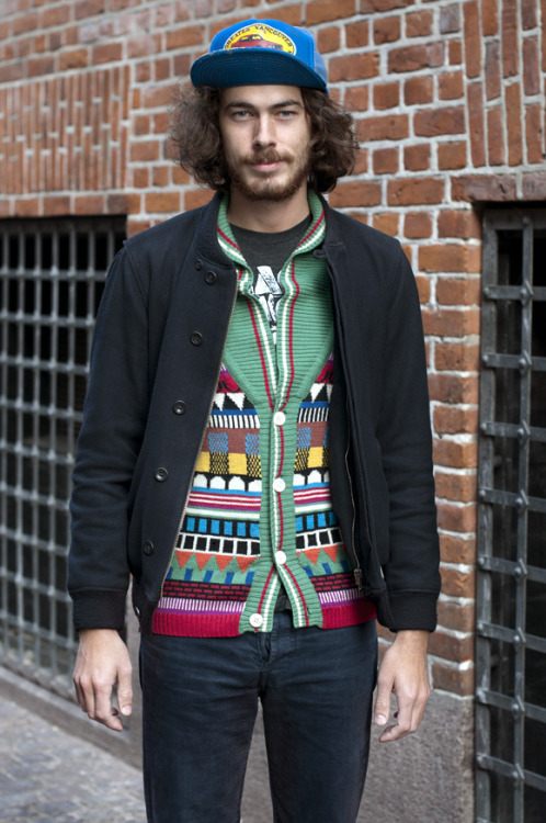 Raphael - Colourful Cardigan, Copenhagen, via The Locals
