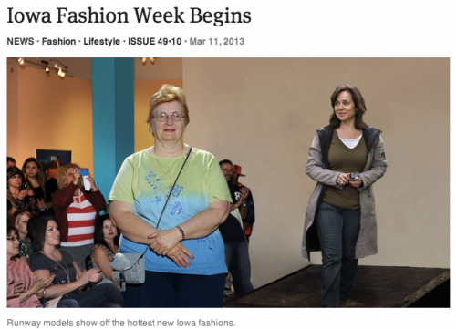 theonion:   Iowa Fashion Week Begins: Full Report