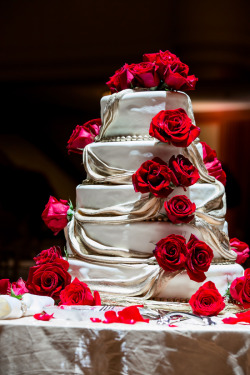 beautifulindianbrides:  Cake by:Sweet Dreams Bakery