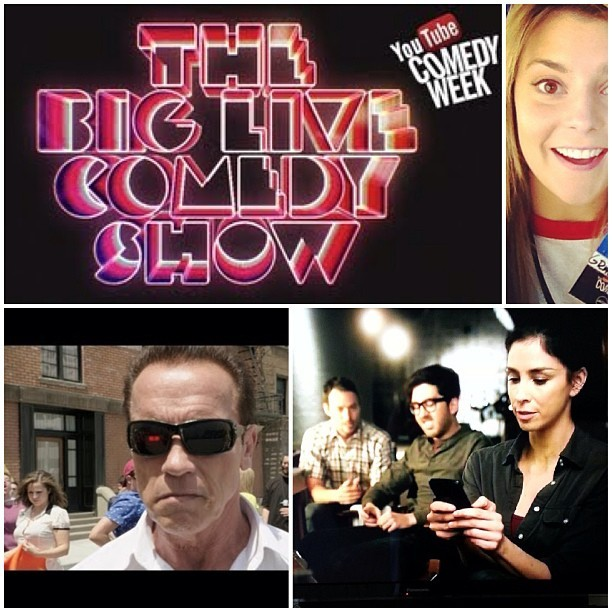 YouTube Big Live Comedy Show tonight! We didn't work on it but we'll be there.  #comedyweek