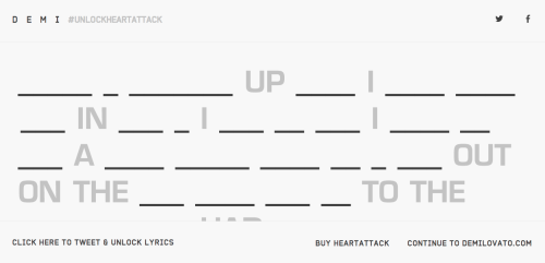 "Think you guys can unlock the lyric video for ""Heart Attack""?! #UnlockHeartAttack http://www.demilovato.com"