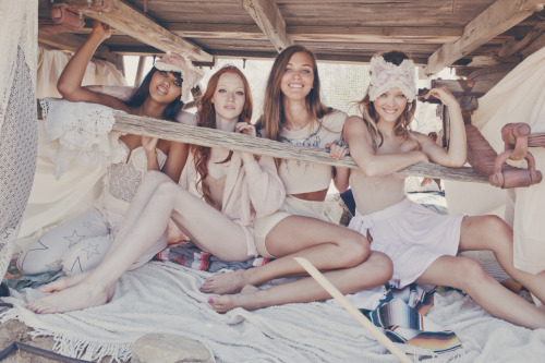 wildfox:  Wildfox Summer list: Sleep outside with your friends, make your own, matching sleeping masks.