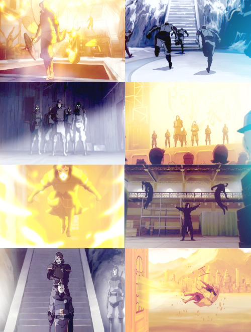 Screencap Meme: Amon & The Equalists + full body shots.→ requested by anonymous
