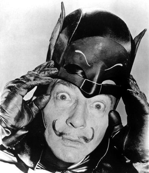 lupea:  Dalí as batman! Nana nana nana nana SURREALISM!
